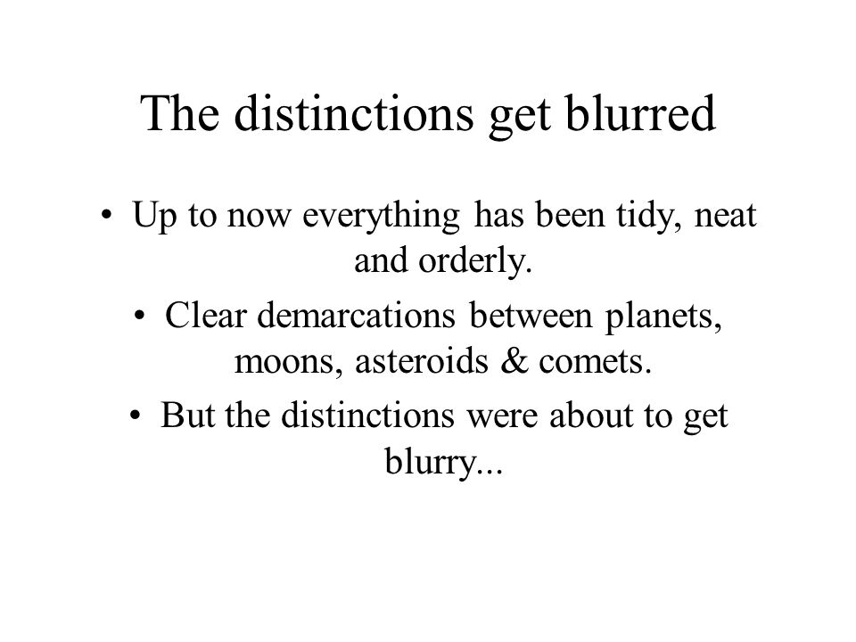 The distinctions get blurred