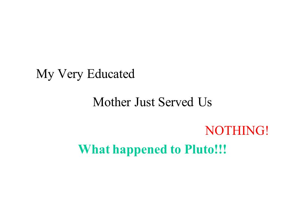 My Very Educated Mother Just Served Us NOTHING! What happened to Pluto!!!