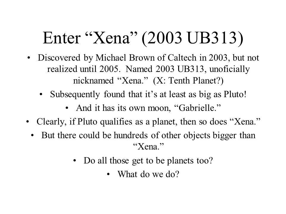 Enter Xena (2003 UB313)