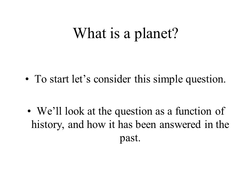 To start let's consider this simple question.