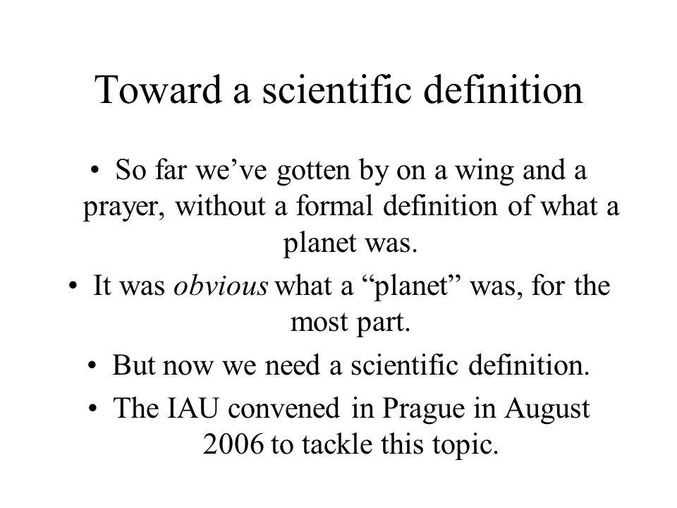 Toward a scientific definition