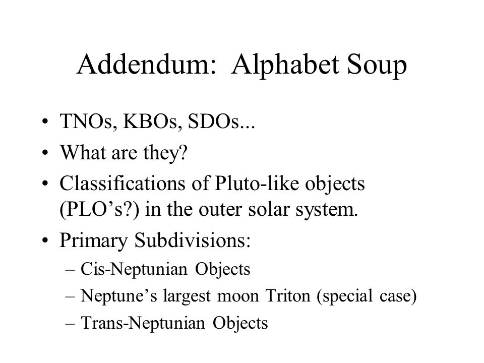 Addendum: Alphabet Soup