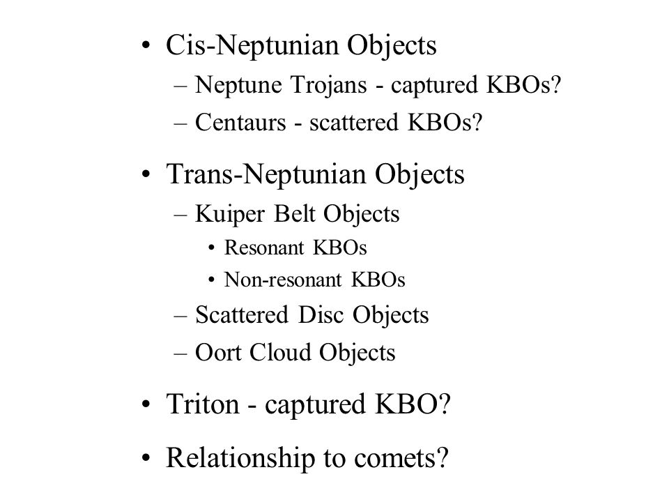Cis-Neptunian Objects