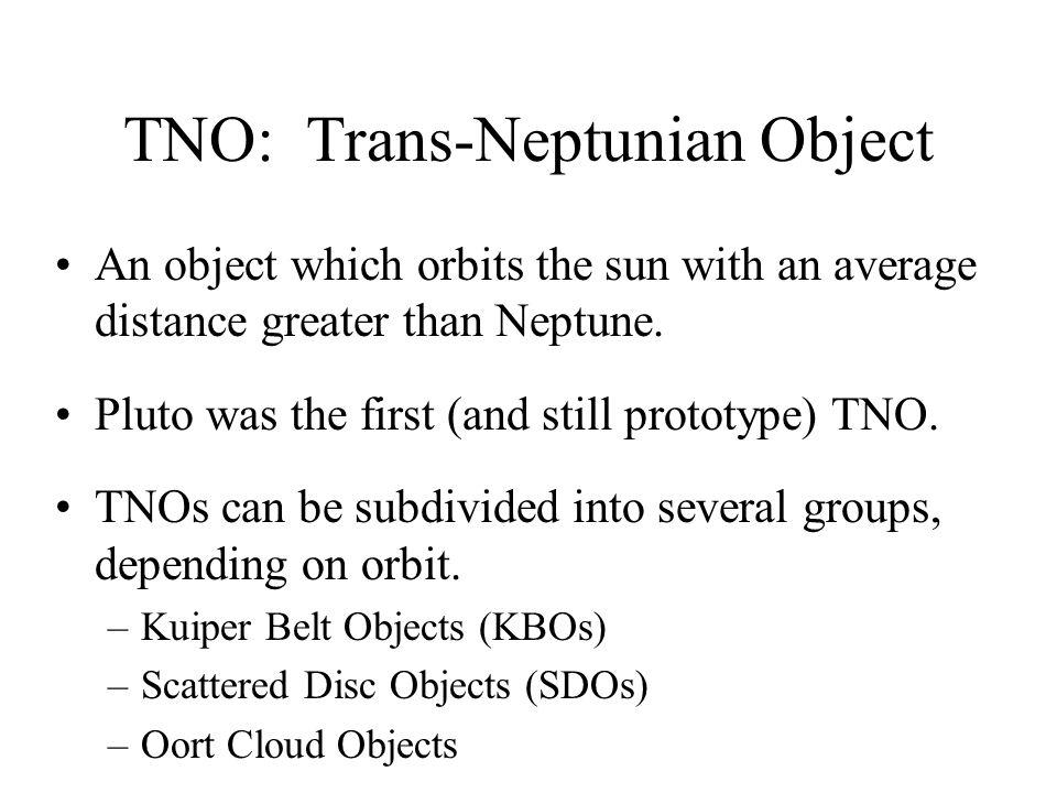 TNO: Trans-Neptunian Object
