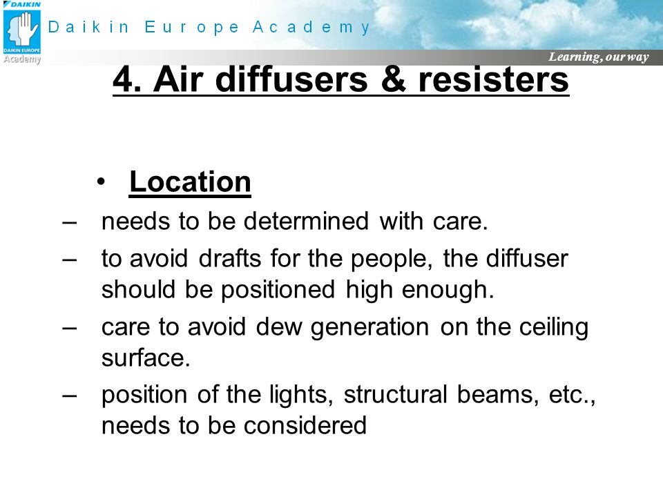 4. Air diffusers & resisters