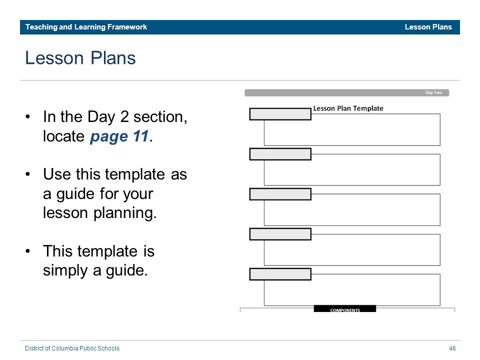 dcps lesson plan template - dcps teaching and learning framework ppt download