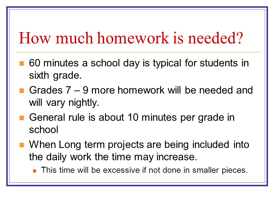 this is how much homework