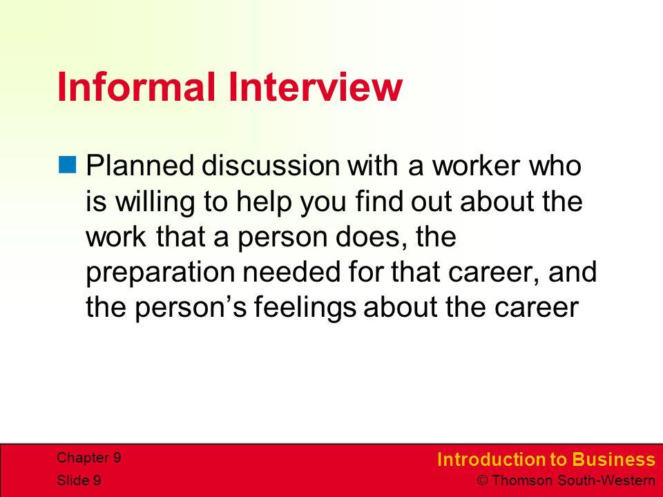 informal interview questions