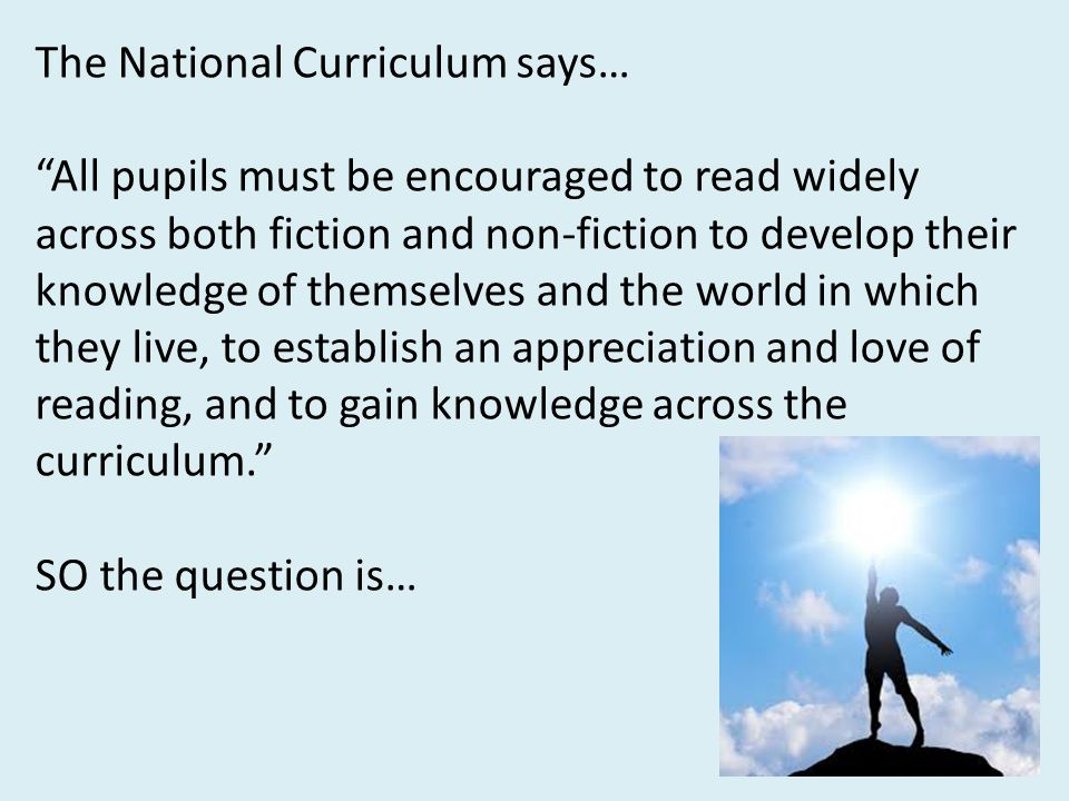 The National Curriculum says…