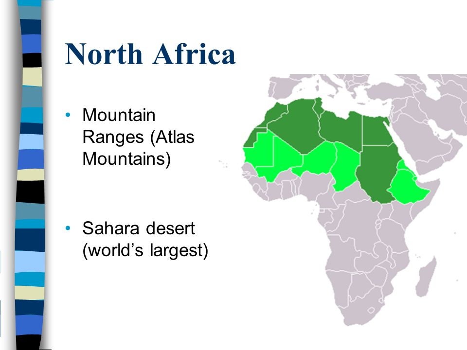 Geography of africa africa unit ppt video online download north africa mountain ranges atlas mountains gumiabroncs Images