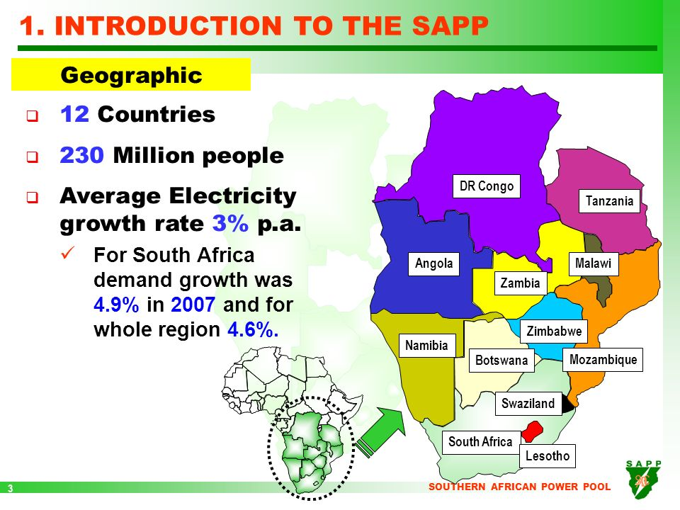 Overview of the sapp and the energy network in southern africa 3 1 sciox Images