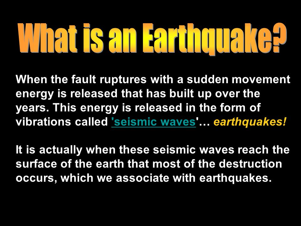 Standard EARTHQUAKES. - ppt video online download