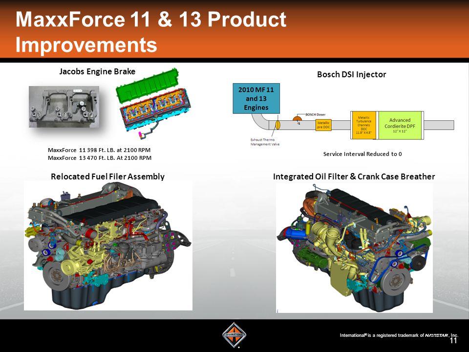 Maxxforce Product Improvements