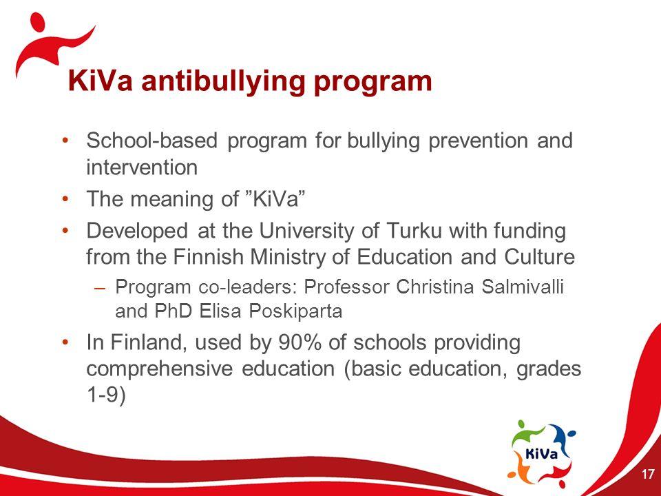 KiVa antibullying program
