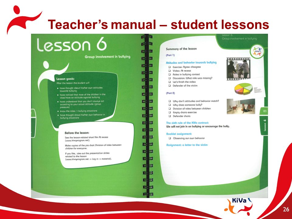 Teacher's manual – student lessons