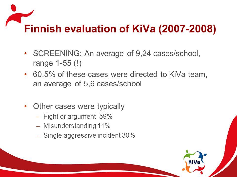 Finnish evaluation of KiVa (2007-2008)