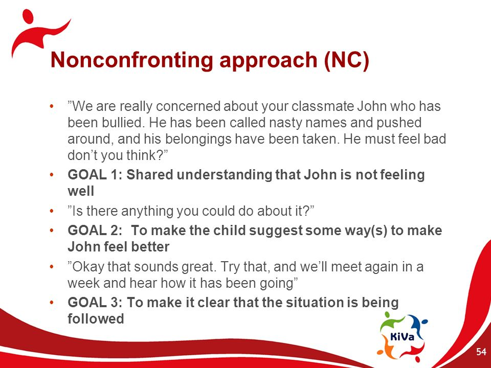 Nonconfronting approach (NC)