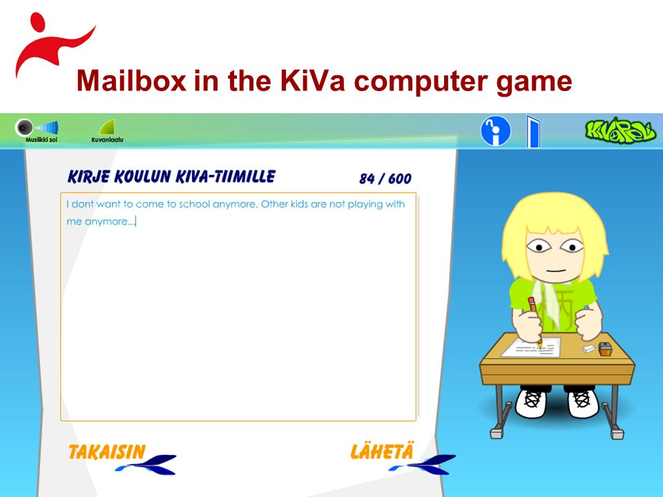 Mailbox in the KiVa computer game
