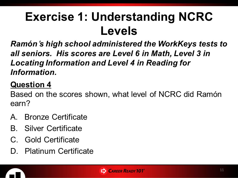 The national career readiness certificate ppt download 11 exercise fandeluxe Choice Image