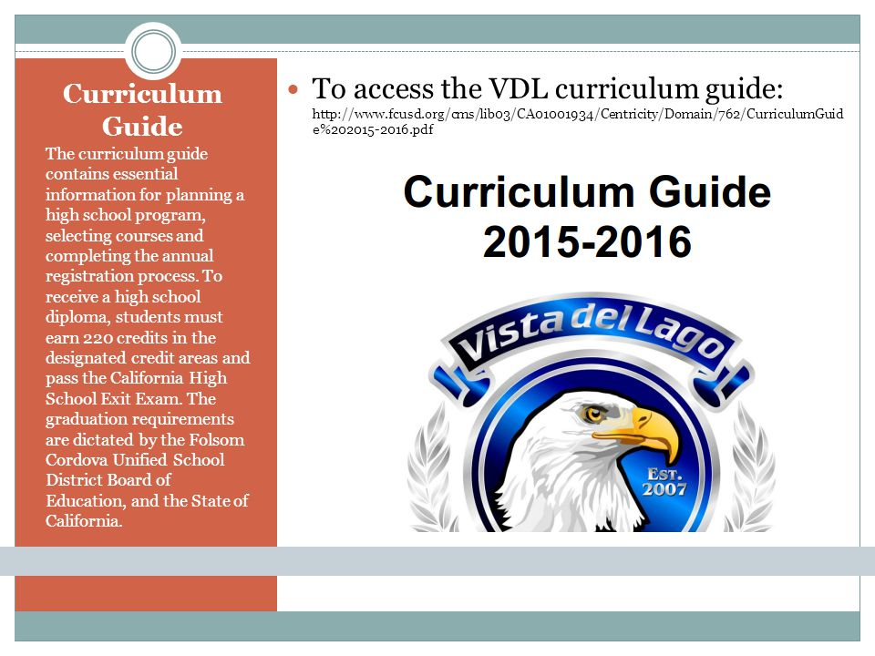 To access the VDL curriculum guide:   fcusd