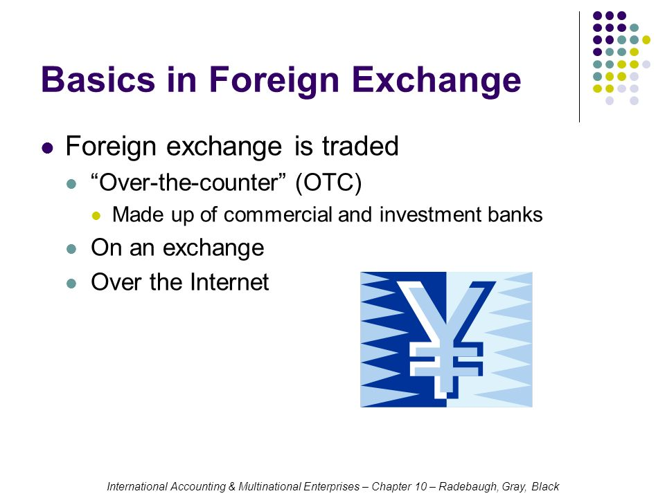 Foreign exchange counter