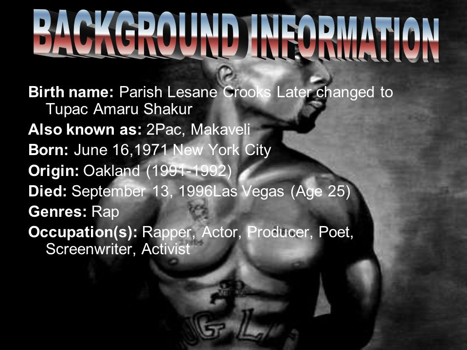 2PAC 2PAC AND HIS LIFE. - ppt video online download