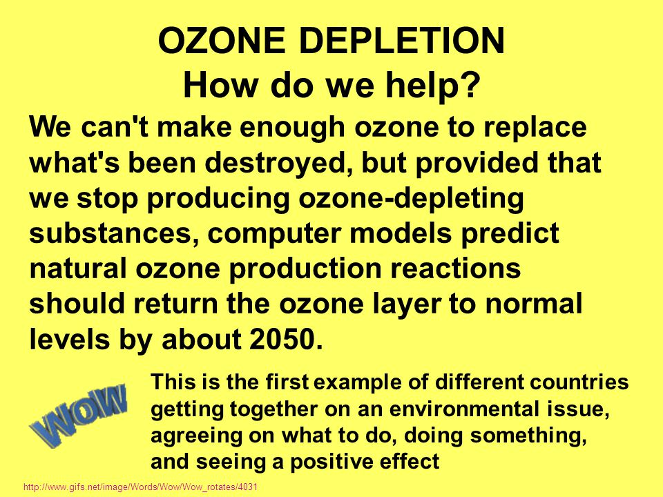 OZONE DEPLETION How do we help