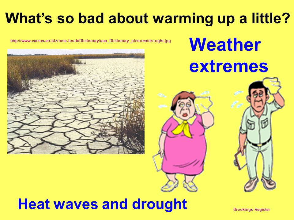 Weather extremes What's so bad about warming up a little