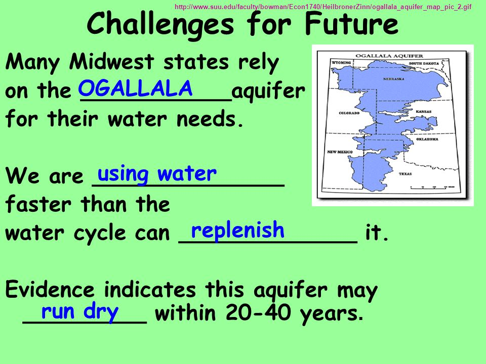 Challenges for Future Many Midwest states rely