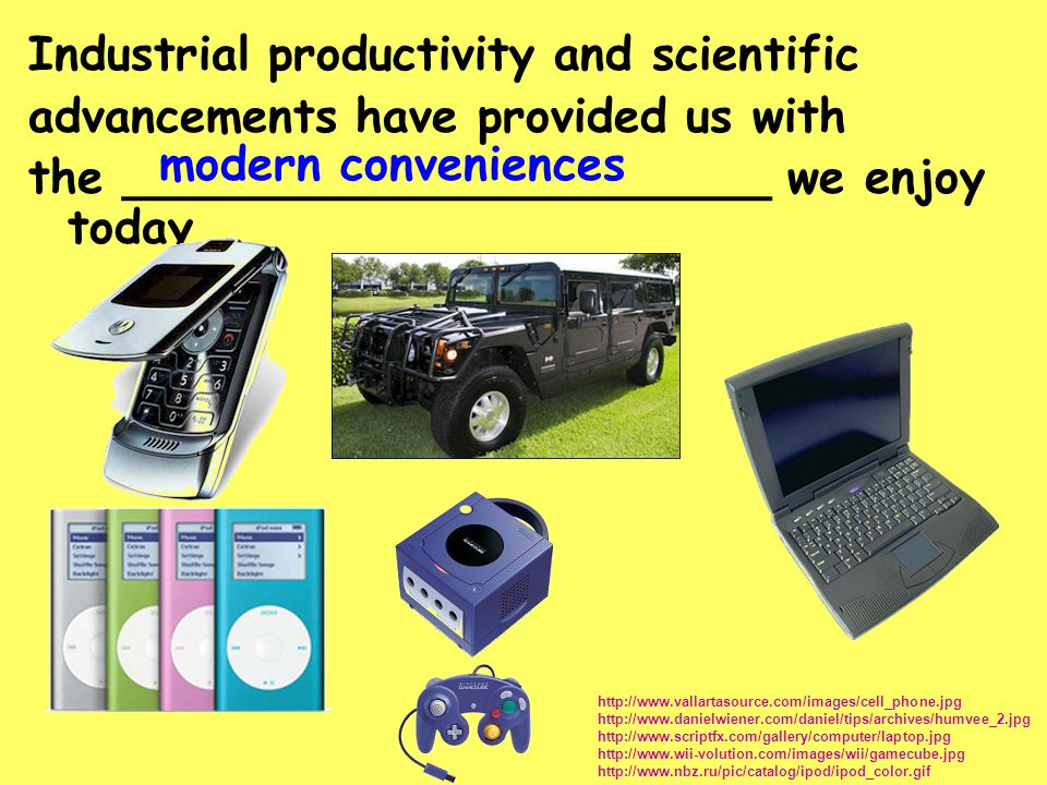 Industrial productivity and scientific