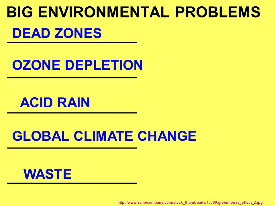 BIG ENVIRONMENTAL PROBLEMS