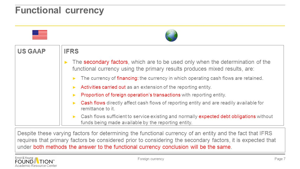 "functional currency determination Determining functional currency 17 july 2006 nik hanes' question, relating to my posting "" can you still accounting in foreign currency , touches on some important points regarding how one determines functional currency under the rules set out in ias 21."
