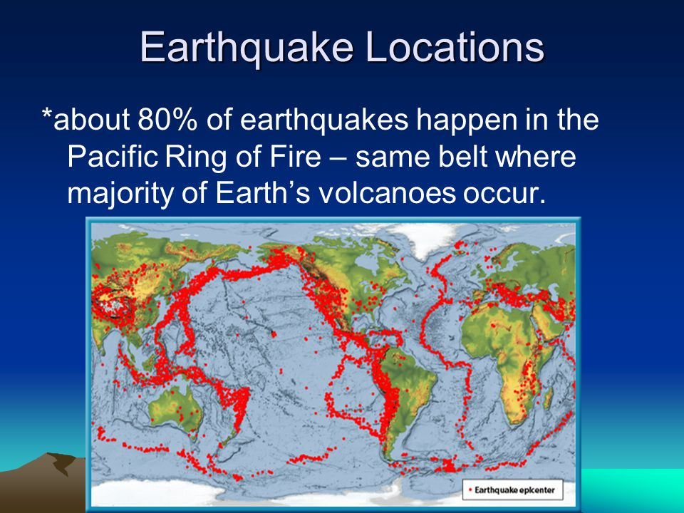 Earth Quake Locations Ring Of Fire