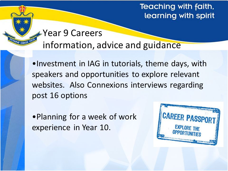 Year 9 Careers information, advice and guidance