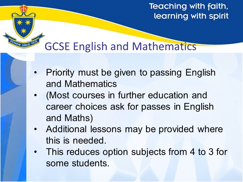 GCSE English and Mathematics