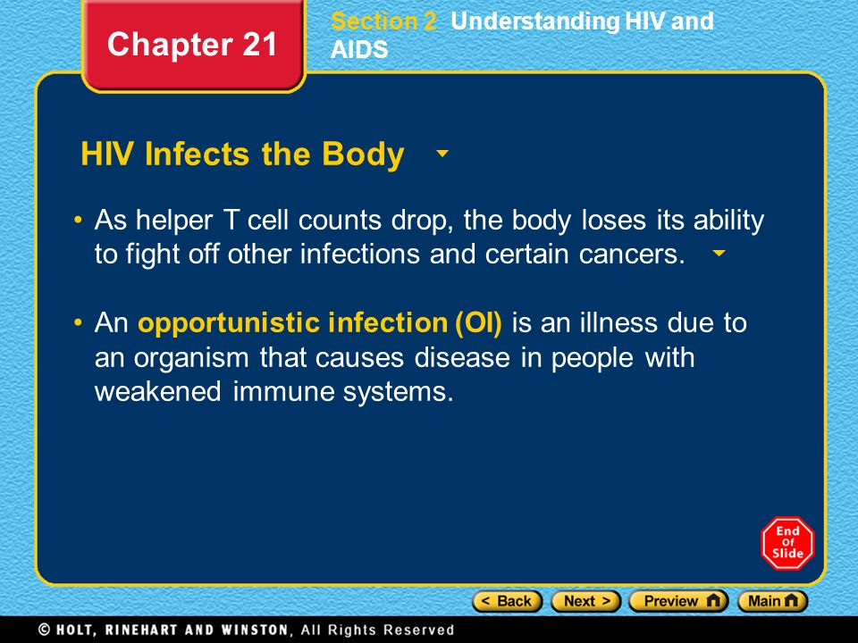 Chapter 21 HIV Infects the Body