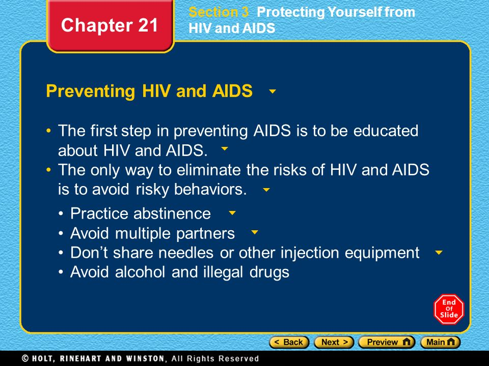 Chapter 21 Preventing HIV and AIDS