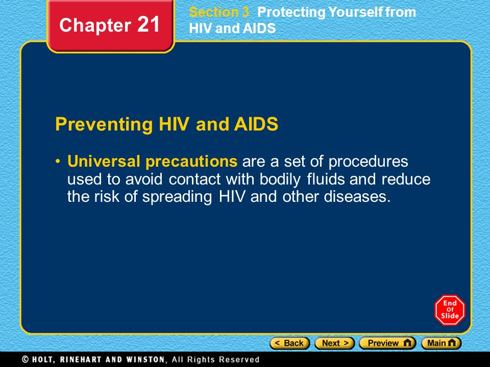 Preventing HIV and AIDS