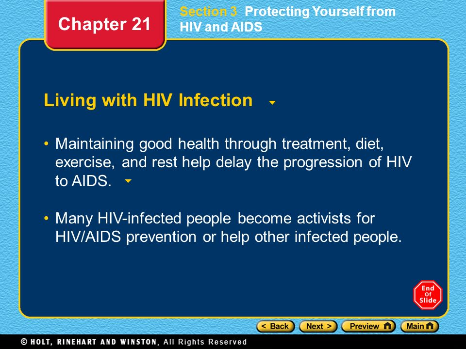 Living with HIV Infection