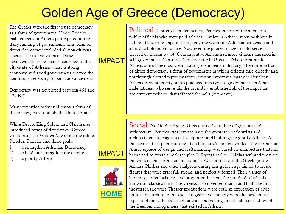 an introduction to the history of the periclean age in greece Age honest and fair, pericles held onto popular support for 32 years he was a  skillful politician, an  democratic governments in history the introduction of  direct democracy, a form of government in which citizens rule directly and not  through.