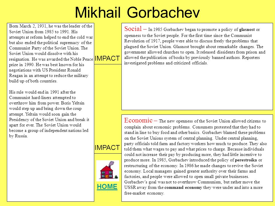 gorbachev soviet union essay Flat on its economic back, the soviet union is making genuine concessions the soviet motive may be solely to save money,  essay who lost gorbachev.
