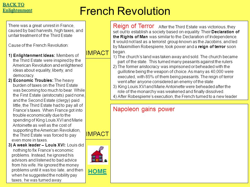 global thematic essays ppt  french revolution reign of terror impact napoleon gains power impact