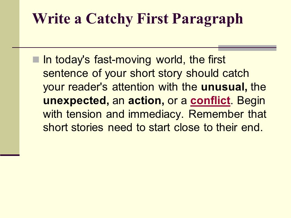 catchy earliest essay sentences designed for a essay
