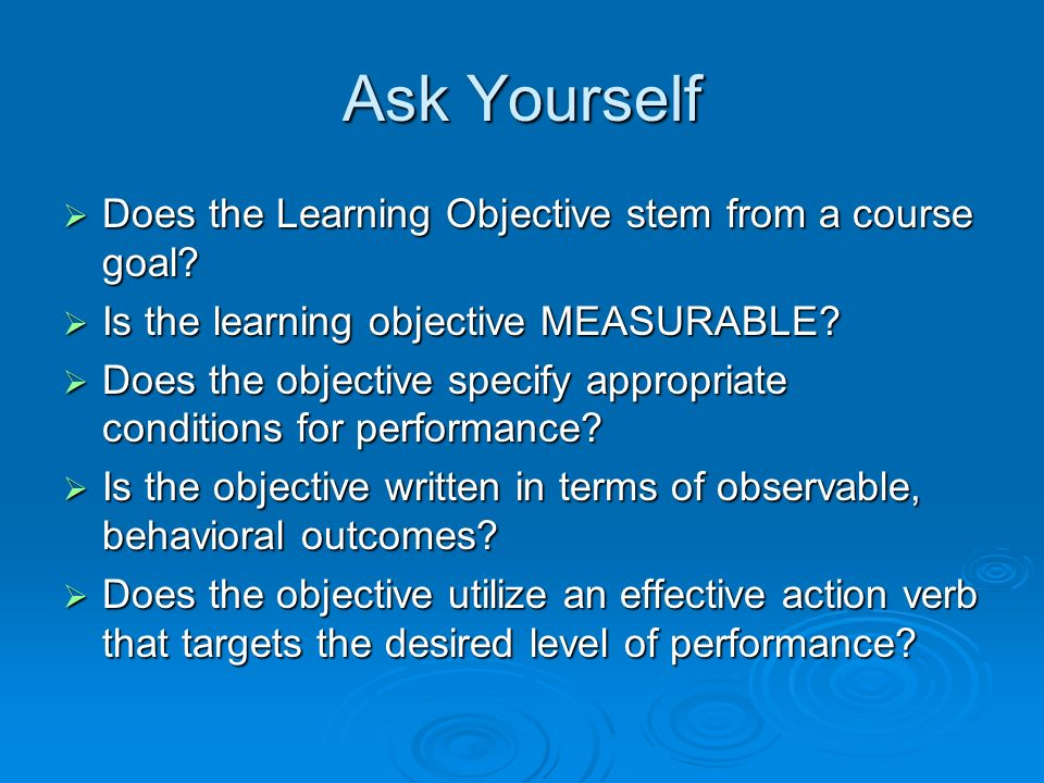 writing objectives given proper teachers will
