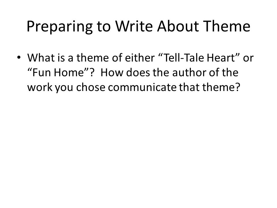 Developing the tell tale heart essay themes