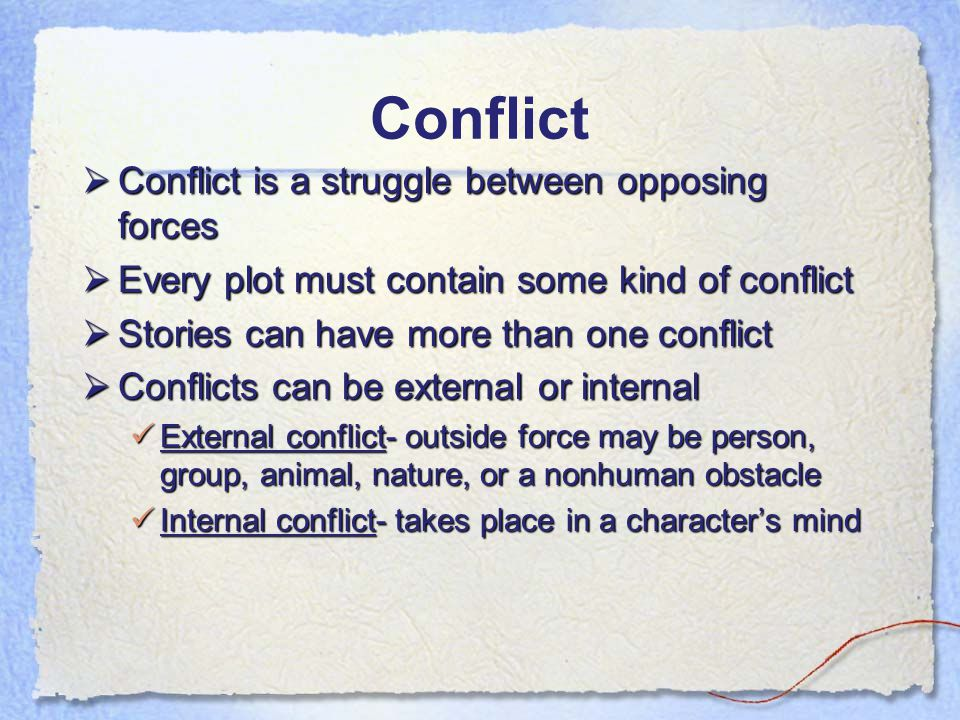 Essay on Conflicts