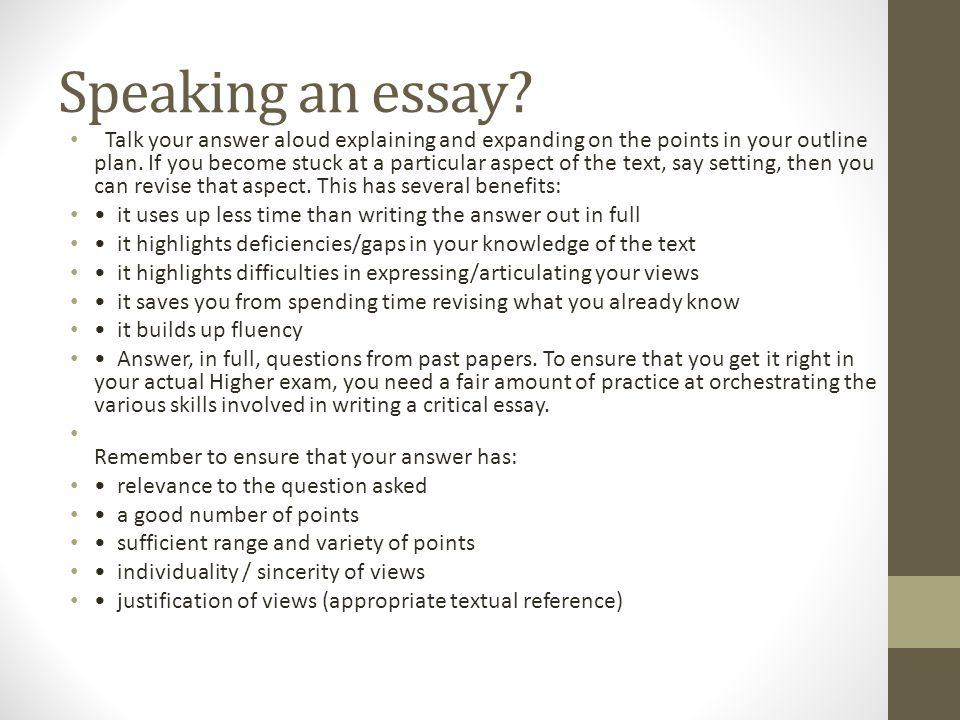 higher english dchs masterclass ppt  speaking an essay