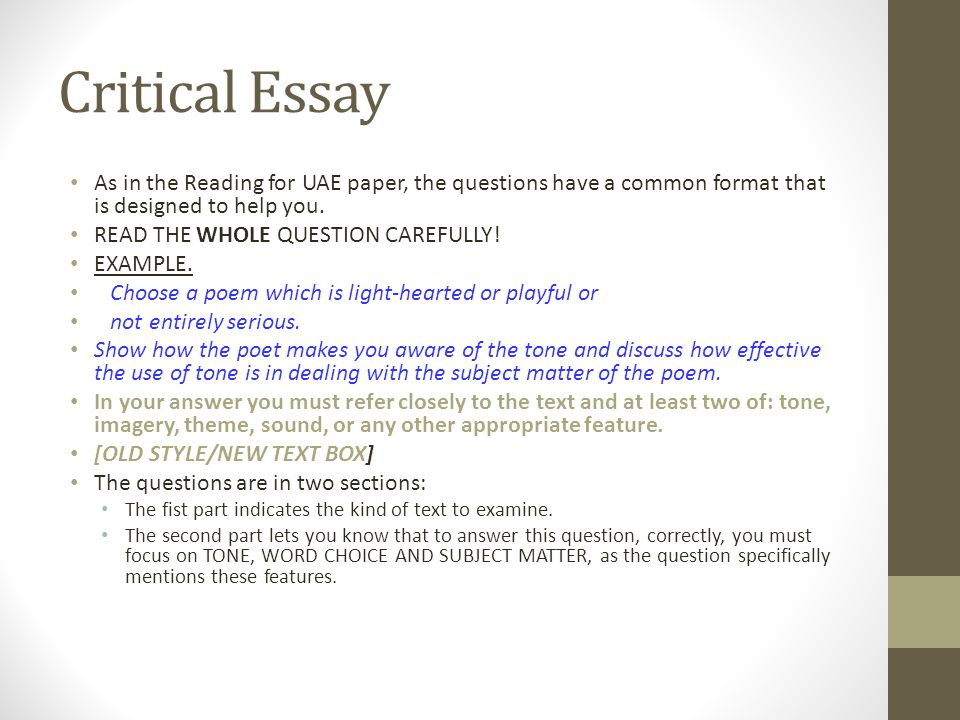Higher English Dchs Masterclass  Ppt Download  Critical Essay As In The Reading
