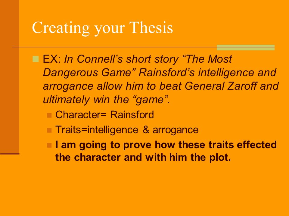 the most dangerous game character analysis of general zaroff 2 essay The most dangerous game, also published as the hounds of zaroff, is a short story by richard connell, first published in collier's on january 19, 1924.