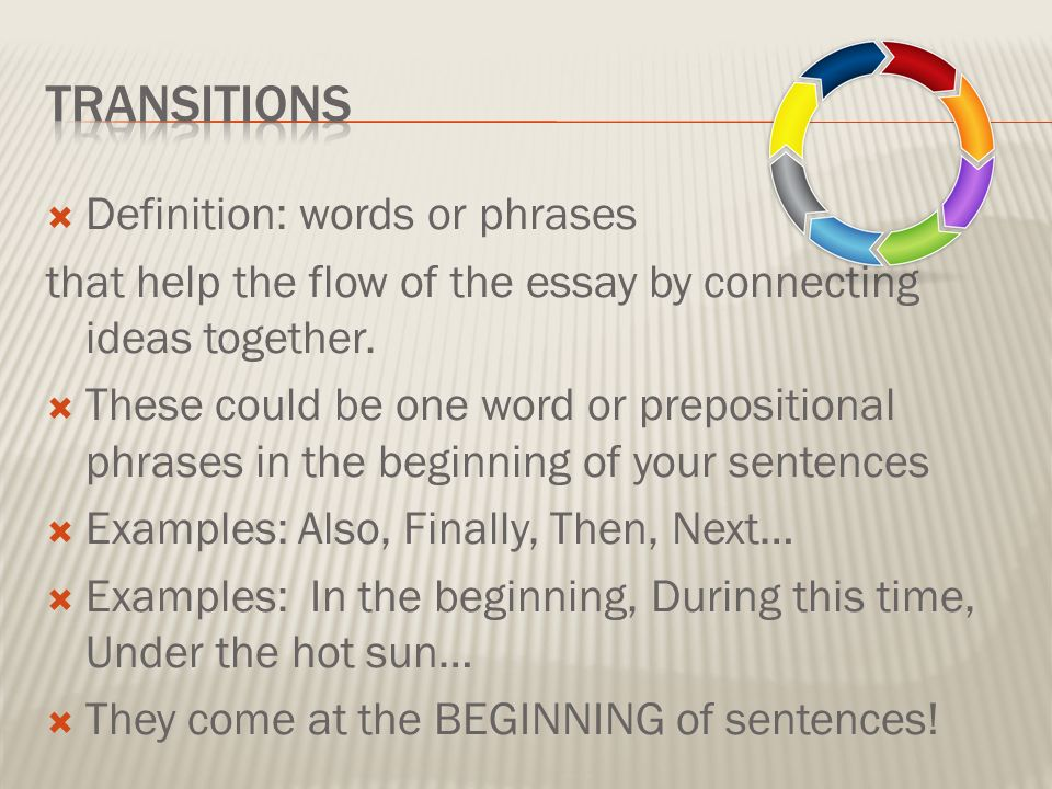 essaying definition In a short essay, the main point should usually conclude the  thesis, be careful  to put it into only a few well-defined places, reorganizing your.